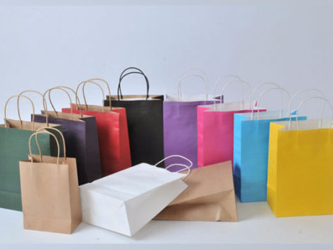 colourful non gloss papaer bags