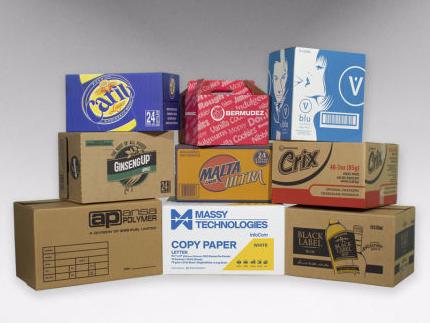 image of corrugated boxes
